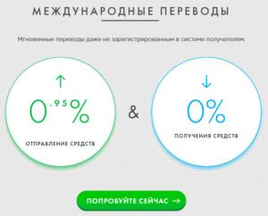 Тарифы на переводы системыPAYEER