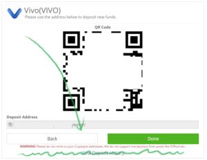 Криптопия, ввод Vivo